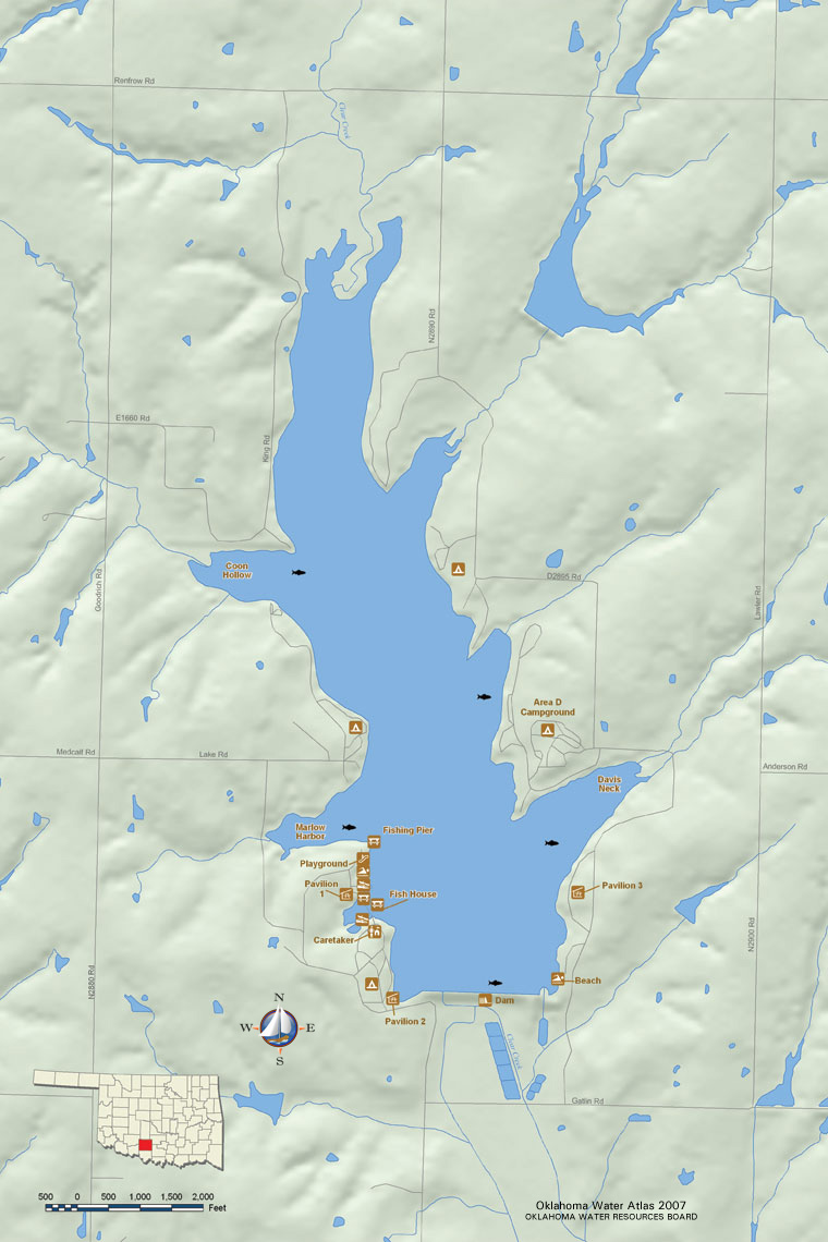 Public Works Lake Forms - Oklahoma lakes map